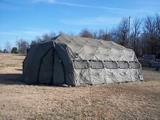 MILITARY TENT  DRASH ARMY SURPLUS 14x30  5XB  USED  HUNTING CAMPING