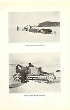 scotts last expedition 1913 plate -  one of the motor sledges