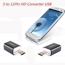 BLK Micro USB HDTV MHL HDMI Adapter 5 to 11 Pin Converter For Samsung S3 i9300