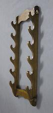 6 Layer Beech Wood Long Wall Mount Bracket Katana Samurai Sword Stand Hanger