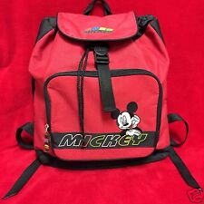 Disney Mickey Unlimited-Mickey Mouse Day trip-Red Backpack-RARE-VINTAGE-*NEW*