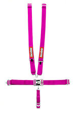 RACEQUIP HARNESS RACING SEAT BELTS 5PT PINK BOLT-IN OR WRAP SFI 16.1 #711081