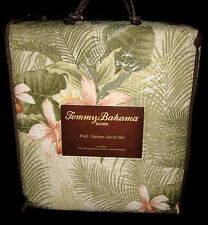 FULL / QUEEN - Tommy Bahama  - Tropical Orchid PILLOW SHAMS & QUILT SET