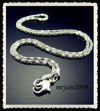 FREE 20pcs Jewelry Wholesale Silver plated snake chain Necklace With Clasp 23""