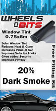 Window Tint 0.75 x 6M Roll 20% Dark Smoke Solar Film UV Insulation Fitting Kit