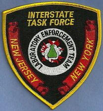 DEA NEW JERSEY-NEW YORK INTERSTATE TASK FORCE ENFORCEMENT TEAM POLICE PATCH
