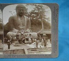 Japanese Stereoview Great Bronze Buddha Kamakura Japan