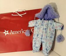 "American Girl 15"" Bitty Baby Doll Snow Suit Snowsuit Blue Flowers Floral Gloves"