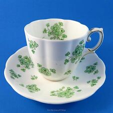 Royal Albert Fluted Shamrock Tea Cup and Saucer Set