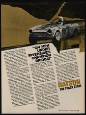 1969 DATSUN 2000 Convertible Race Car - 124 MPH At Riverside - VINTAGE AD