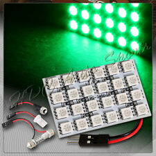 1 x 24 SMD LED Panel Roof Green Dome Map Light Bulbs+T10+BA96+Adjustable Festoon
