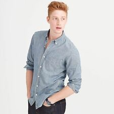 J Crew 2016 Indigo Janpanese Chambray Shirt - Men's Medium - $88.00 03066
