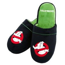 Official Ghostbusters Logo Slip On Super Soft Slippers - Fits 5-7 New Black