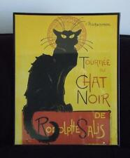 Le Chat Noir The Black Cat by Théophile-Alexandre Steinlen 16x20 Framed Poster