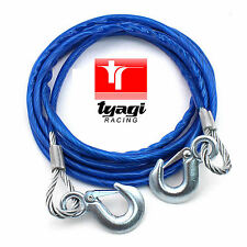 7000KG 4MTR HEAVY DUTY STEEL TOW CAR 12MM ROPE WIRE PULL ROAD RECOVERY CAR VAN