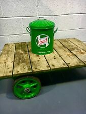 Vintage style Castrol oil can storage bin 15Ltr , Man Cave , Games Room