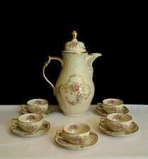 WWII US Zone Rosenthal Selb Germany Sanssouci Tea Set Gold Trim Heirloom