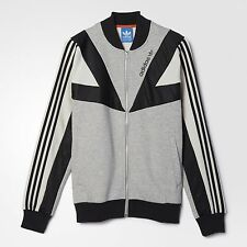 ADIDAS ORIGINALS BASKETBALL TRACK TOP JACKET SWEATER MEN'S SIZE XL GREY AJ7882