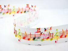 Colourful Rainbow Music Notes Butterfly Lace Ribbon Cake Card Music Notes uk