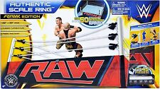 "WWE AUTHENTIC SCALE RING Raw Edition for 6"" figures 22"" x 22""! wwf real NEW!"