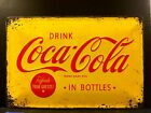 Coca Cola Refresh Your Guest Embossed Metal Sign Wall Decor