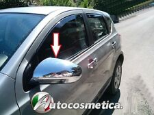 CHROME SIDE DOOR WING MIRROR TRIM SET COVERS FOR NISSAN QASHQAI 07-13