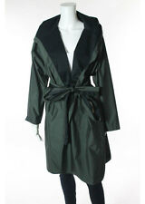 NWOT SHAMASK Green Hooded Knee Length Raincoat Sz 2 $1495