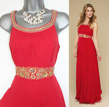 *MONSOON*Red Ariel Lending Embellished Bridesmaid Cocktail Dress sz12 £169