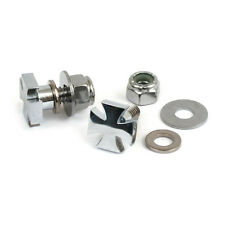MCS Harley-Davidson Chrome Maltese Cross , Number Plate Screw kit , BC22519