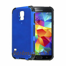 for Samsung galaxy i9600 S5 G900 case 2 layer  black blue shockproof hybrid