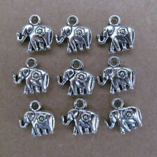 20pc Tibetan Silver Charms Double-sided Beads Elephant Animals Accessorie  GP057