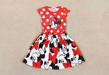 BNWT! MINNIE MOUSE RED POLKA BIRTHDAY DRESS WITH FACE PRINT  - 90CM 2YO