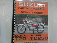 Suzuki T20 TC250 X6 Hustler  parts& service combo  manual   1966 1967 1968