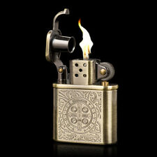 New Bronzy Carved Constantine Antique Style Lift Arm Oil Petrol Lighter