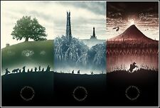 LORD OF THE RINGS - Middle Earth Movie Wall Art Large Canvas Print 20x30""