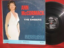 Ann McCormack At The Embers JAZZ VOCAL Mahalo LP Record STEREO SIGNED 1964 SEE