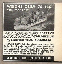 1950 Print Ad Starcraft 12 1/2 Ft Magnesium Boats Goshen,IN