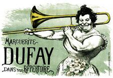 Art Deco - Marguerite Dufay Trombone - French A3 Art Poster Print
