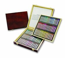 (90) Mungyo Gallery Extra Fine Soft Pastels Set Kit (in Wood Case) | Artist Art