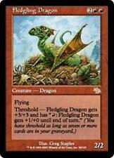 FLEDGLING DRAGON Judgment MTG Red Creature — Dragon RARE