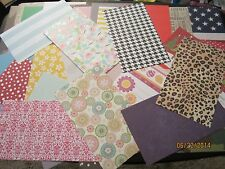 HUGE LOT* 100 Asst.* 8.5 X 5 LARGE Scrapbook Paper Pieces **Paper Crafts
