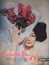 PUBLICITÉ 1957 CHEN YU ROUGES A LÈVRES ENCHANTED LILAC - ADVERTISING