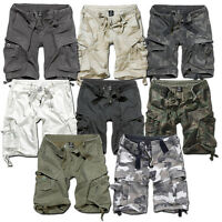 BRANDIT VINTAGE SHORTS MILITARY ARMY CARGO COMBAT KNEE LENGTH