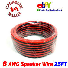 25 FT 15m High Definition 6 Gauge 6 AWG Speaker Wire Cable Home Theater
