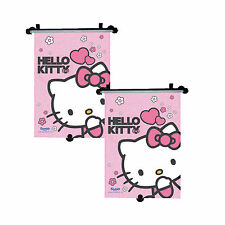 2 x Genuine Sanrio Hello Kitty Car Sun Shade Roller Window Blind for Kids