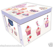 Daisy Patch Afternoon Tea & Cupcakes Large Collapsible Storage Box