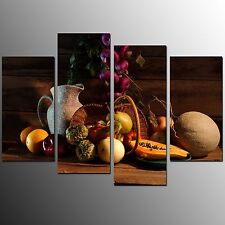 FRAMED Canvas Art Prints Fruit Painting Wall Art Canvas Painting Prints-4pcs