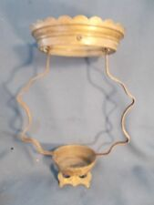 Victorian Hanging Oil Lamp Brass Pinch Frame & Shade Ring for 14in Shade c1880
