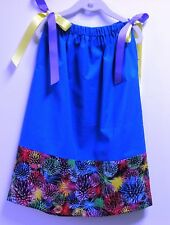 PILLOWCASE DRESS UP TO 22' LONG IN ROYAL BLUE WITH BAND - MADE TO ORDER