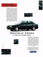 Publicité Advertising 1991 Nouvelle Fiat Croma